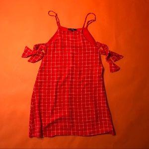 Cute open side tie Lulu's shift dress red size xs
